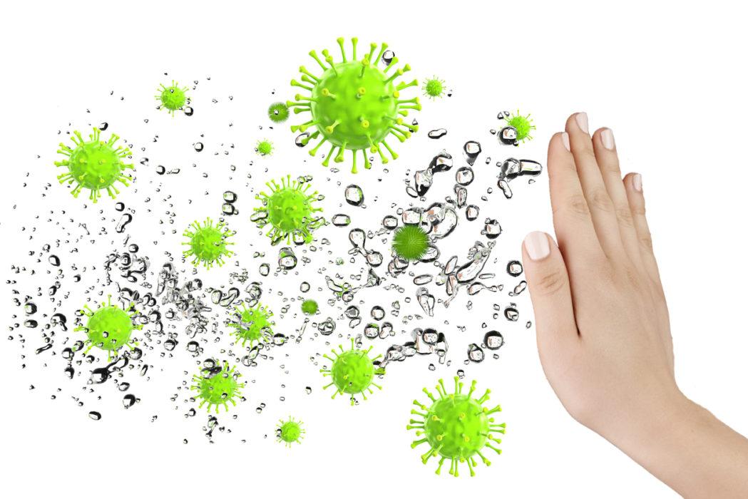 Bakterien, Reinigung und Wartung